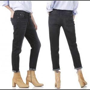 7 For All Mankind Black Josefina Boyfriend Jeans